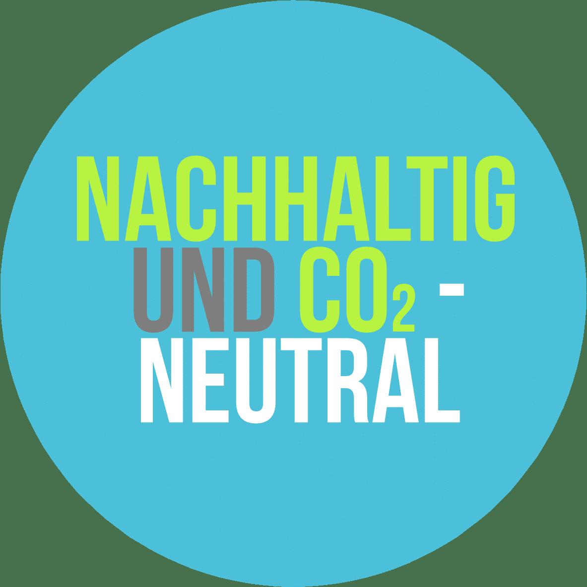 nachhaltig und co2 neutral